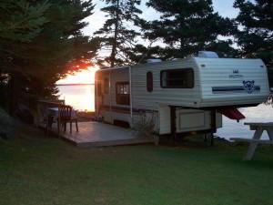 Rental Trailer at site 33 murphys camping nova scotia